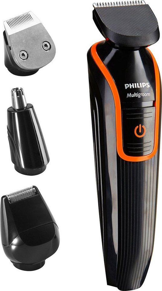 Philips Bart- & Haarschneider Set QG3340/16 Multigroom in schwarz/orange