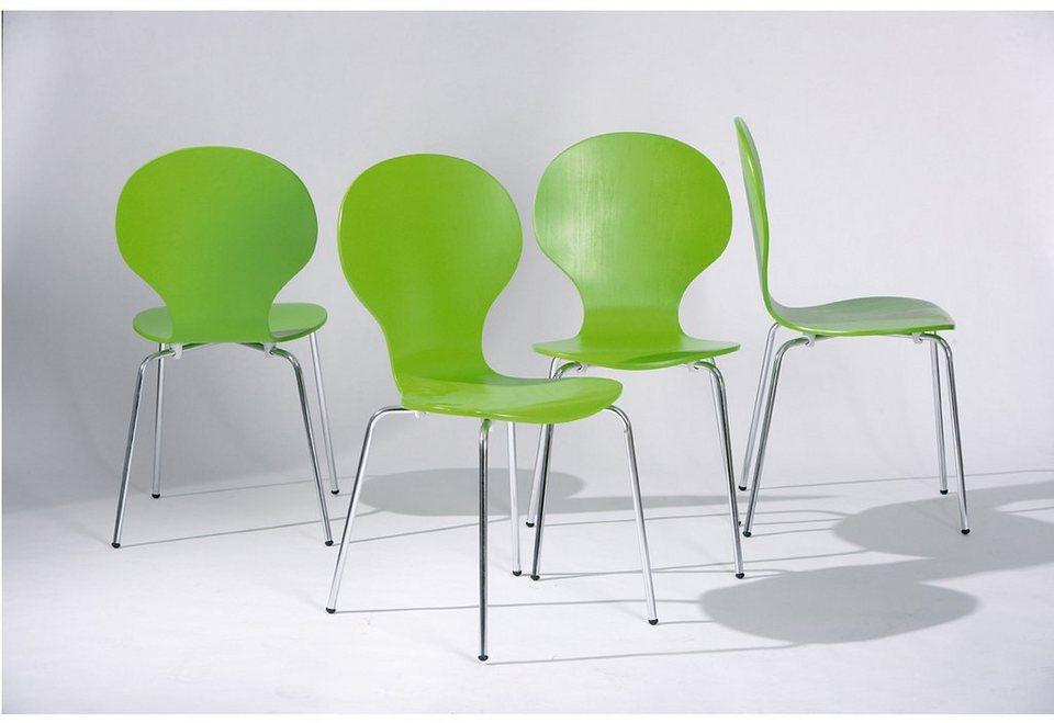 Stühle (4 Stck.) in grün