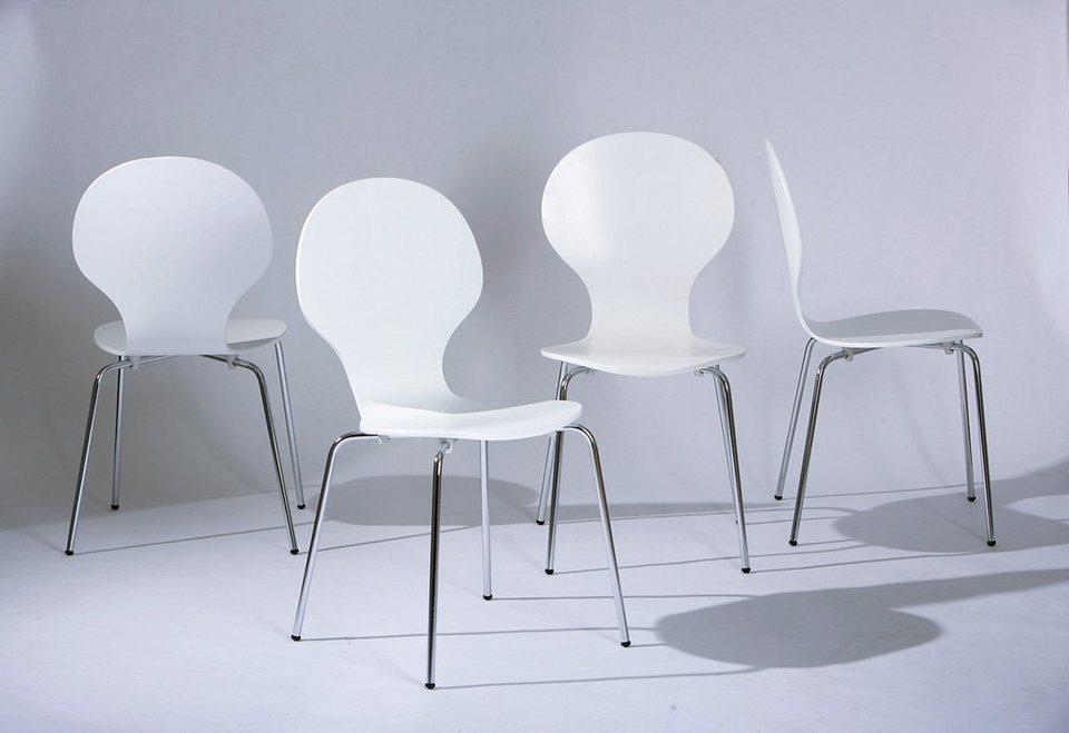 Stühle (4 Stck.) in weiss