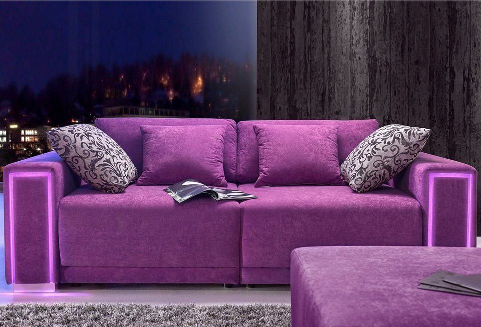 big sofa gr e l xxl inklusive led rgb beleuchtung online kaufen otto. Black Bedroom Furniture Sets. Home Design Ideas