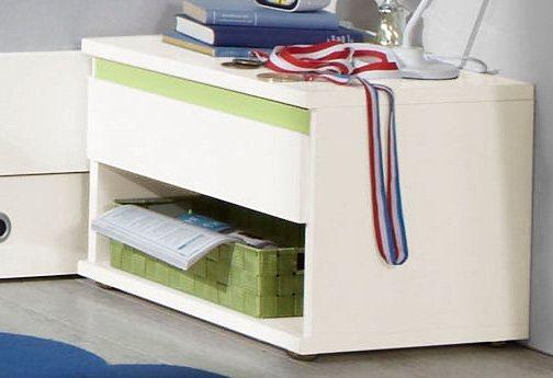 Wimex Nachttisch in weiß/blau