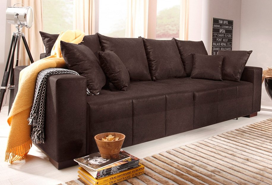 Home affaire Big-Sofa »Miguel«, mit Federkern in mocca