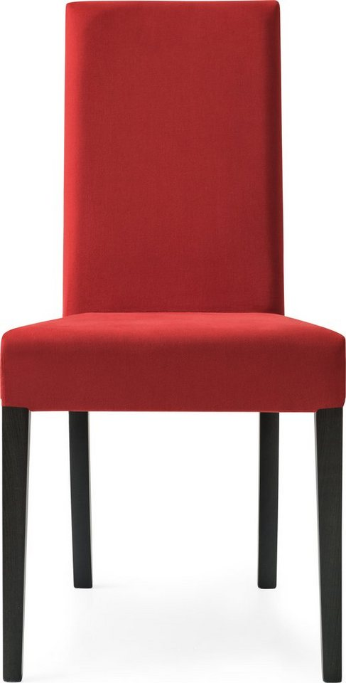 connubia by calligaris Polsterstuhl (2 Stck.) in graphit/rot