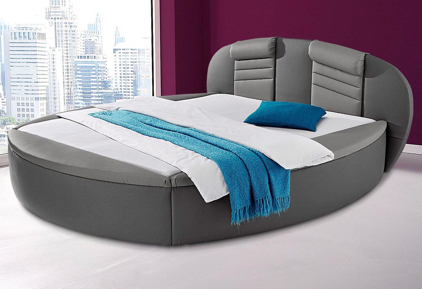 Westfalia Schlafkomfort Rundbett | Schlafzimmer > Betten > Rundbetten | Grau | Kunstleder | Westfalia Schlafkomfort