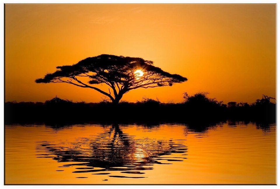 Leinwandbild, Home affaire, »Afrika«, in 2 Größen in orange/schwarz