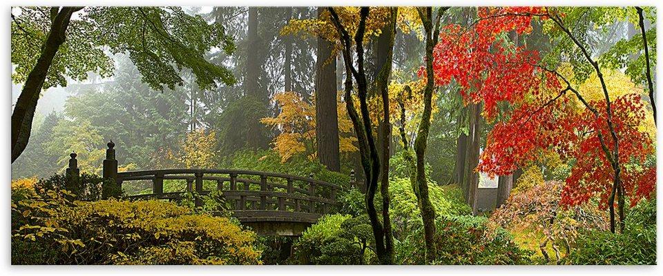 Acrylglasbild, Home affaire, »Japanischer Garten«, in 2 Größen in bunt