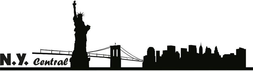 Wandtattoo, Home affaire, »NY-Central«, in 2 Größen in schwarz
