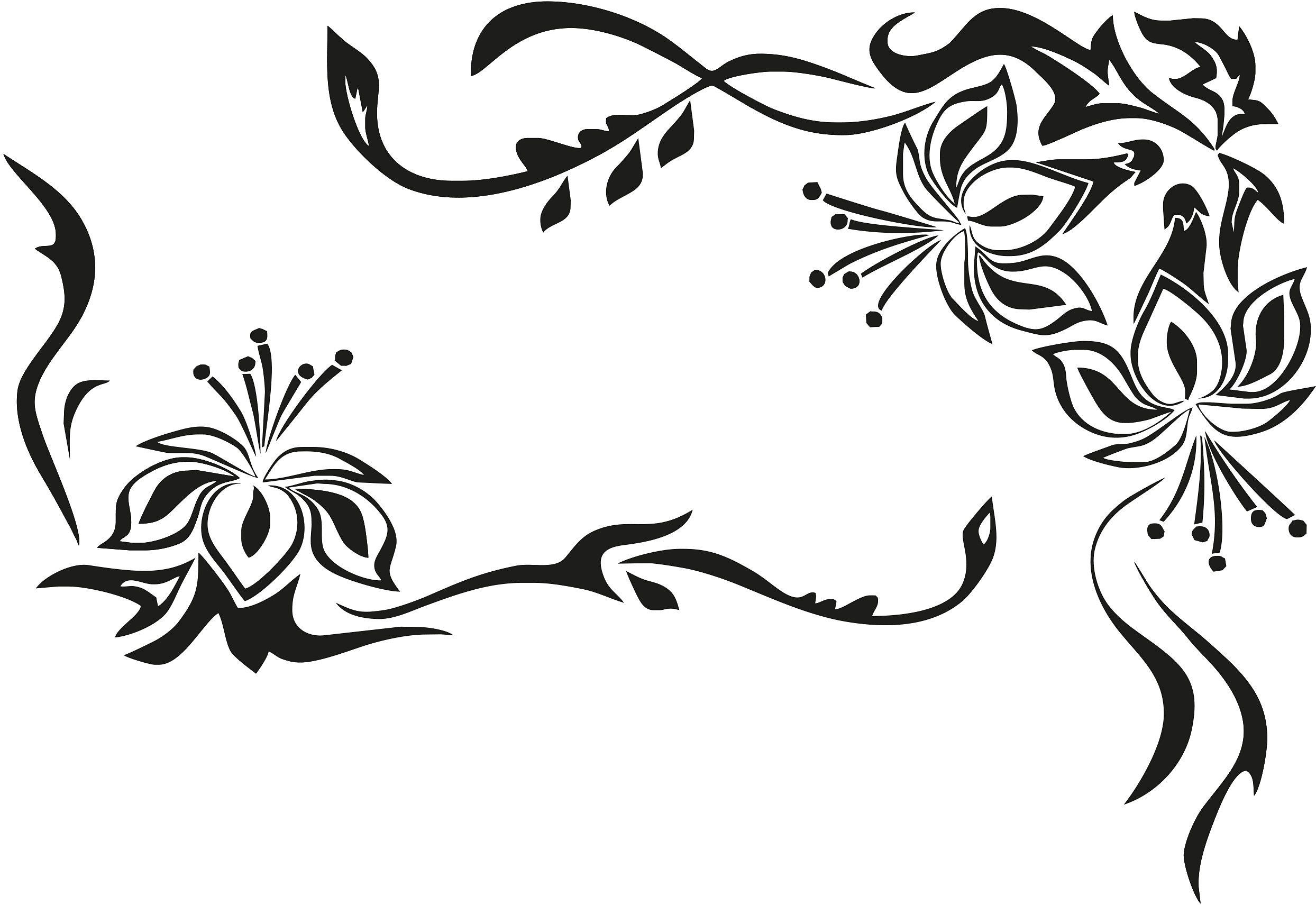 Fabelhaft Wandtattoo Drachen Dekoration Von Wandtattoo, , »blütenornament«, In 3 Größen