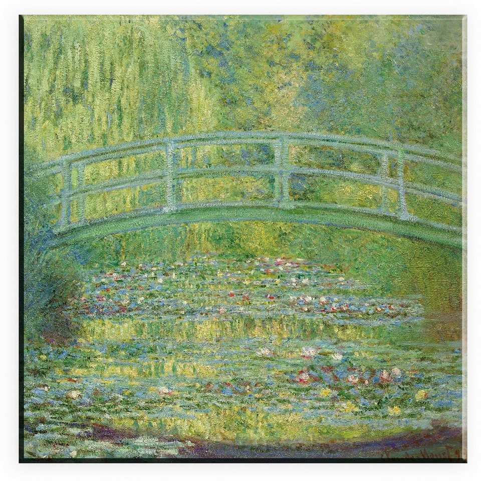 Leinwandbild, Home affaire, »Claude Monet, Seerosenteich und japanische Brücke«, in 2 Größen in grün