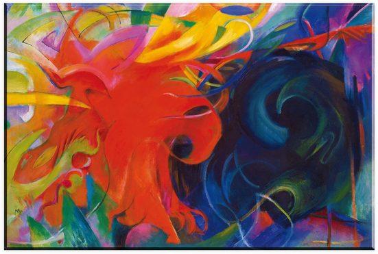 Wall-Art Glasbild »Marc, Kämpfende Formen«, in 2 Größen