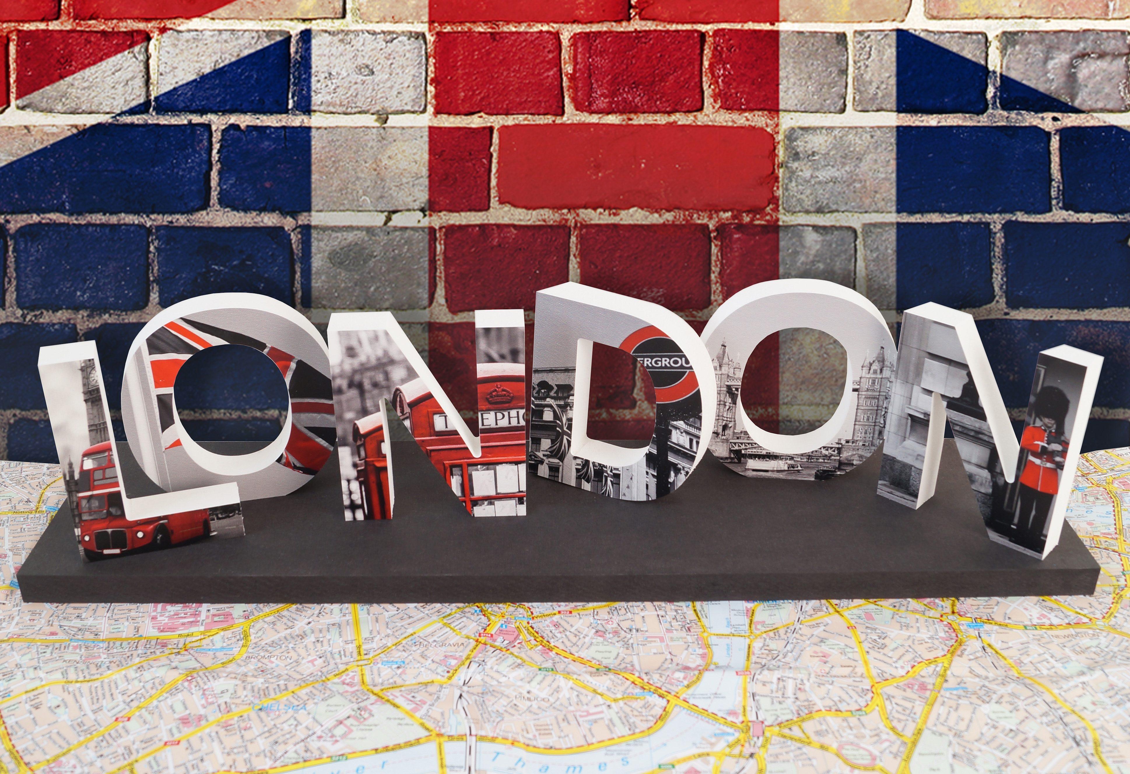 Kunststoffbuchstaben, Home affaire, »3D London«, (6-tlg.)