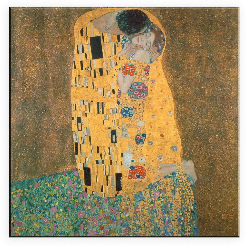 Leinwandbild, Home affaire, »Klimt, Der Kuss«, in 2 Größen in gold