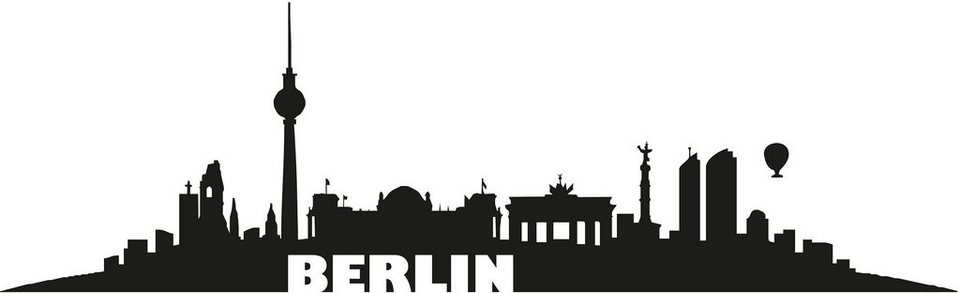 Wandtattoo, Home affaire, »Berlin Skyline«, in 2 Größen in schwarz