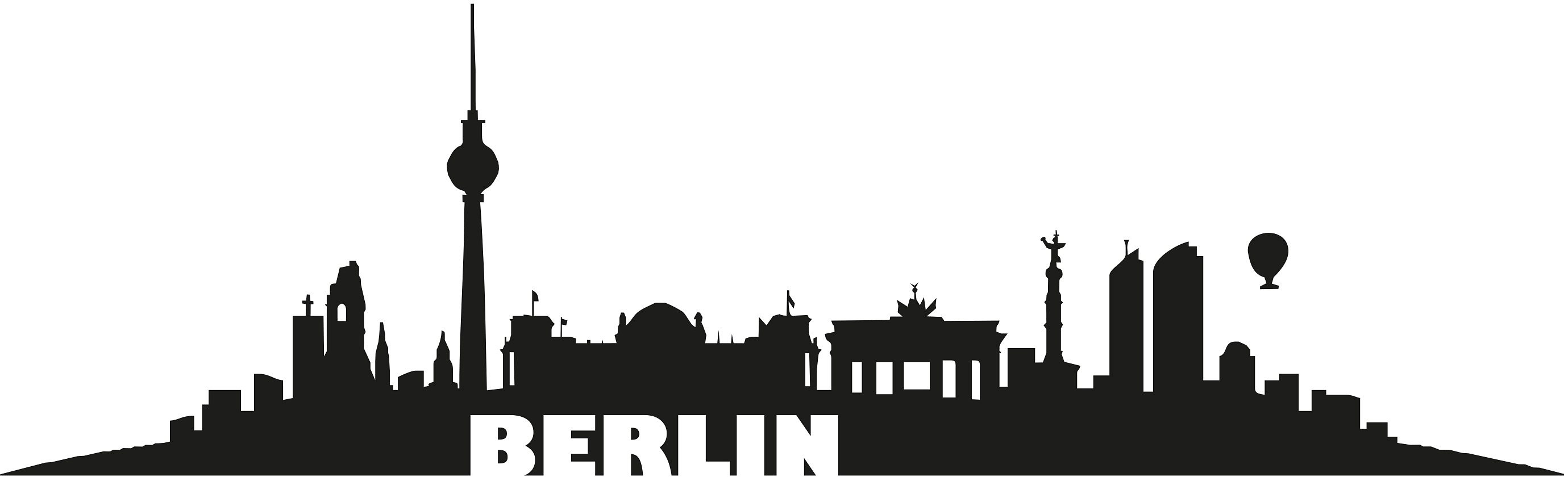 Home affaire Wandtattoo »Berlin Skyline« 120/36 cm