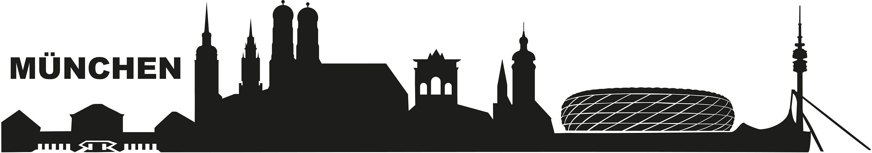 Wandtattoo, Home affaire, »München Skyline«, in 2 Größen