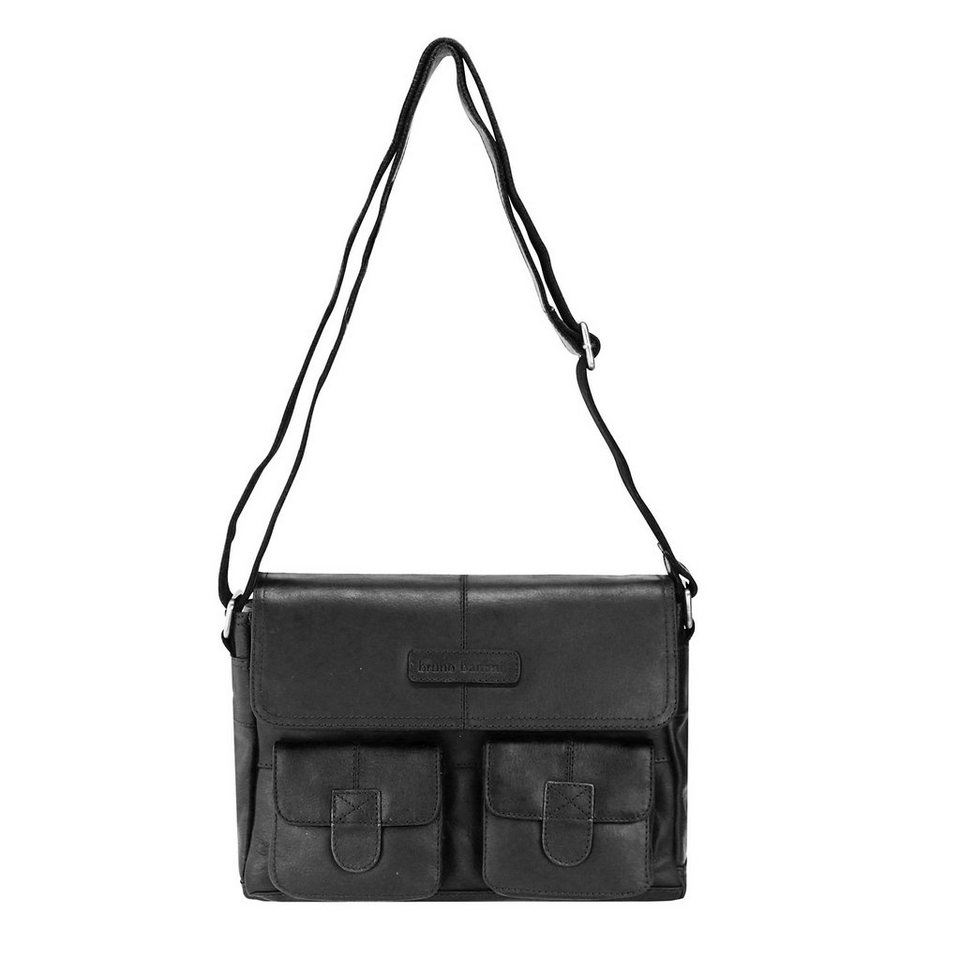 Bruno Banani Message Umhängetasche Leder 29 cm in black