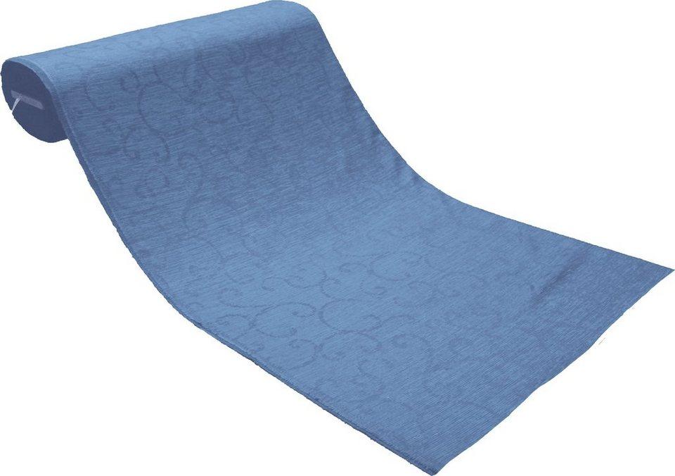 Gardinenstoff, Wirth, »Toco-Ranke« in blau