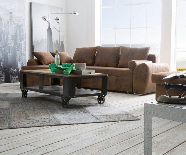 DELIFE Couch Rudy 260x160 Schlaffunktion Ottomane variabel Ecksofa