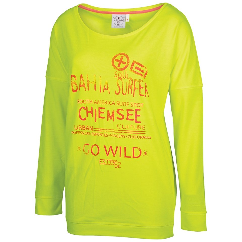 Chiemsee Langarmshirt »GOYA« in safety yellow