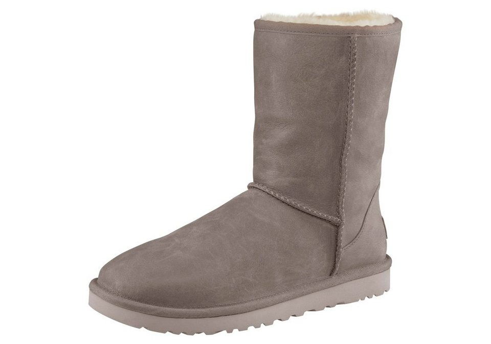 UGG Stiefel »Classic Short Leather« in grau