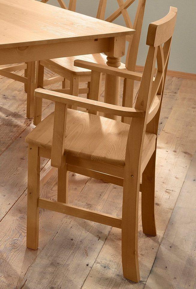 Home affaire stuhl nico mit armlehne 2er set otto - Stuhl mit armlehne grau ...