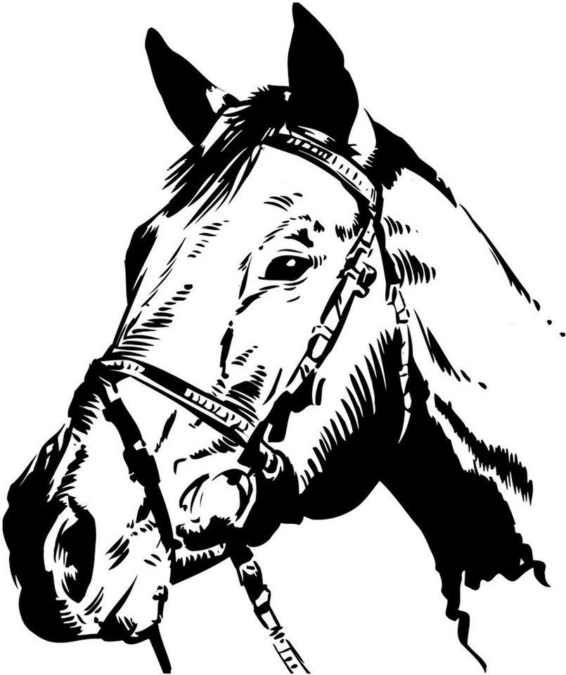 Wandtattoo, Home affaire, »Pferdekopf«, in 2 Größen in braun