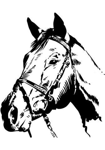HOME AFFAIRE Sienos lipdukai »Pferdekopf«