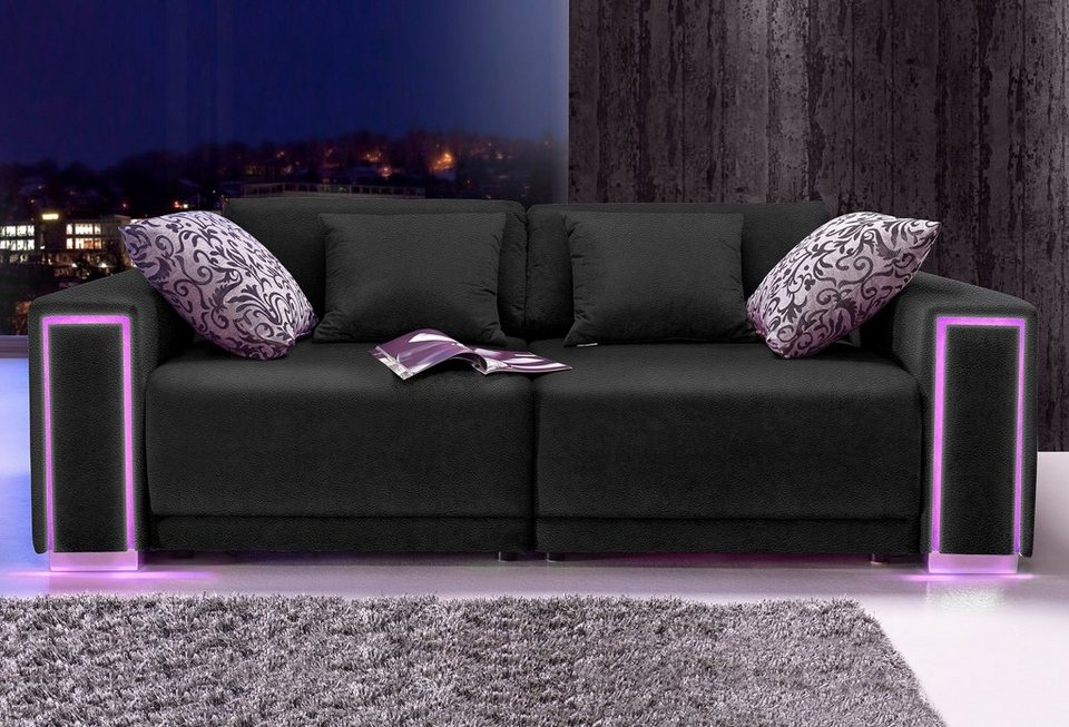 ecksofa mit led beleuchtung amazing angenehme ideen sofa. Black Bedroom Furniture Sets. Home Design Ideas