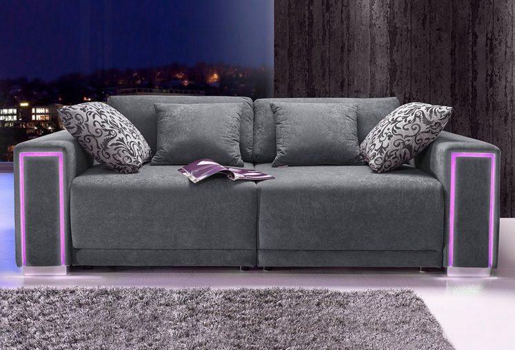 COLLECTION AB Big-Sofa, Größe L - XXL, inklusive LED-RGB Beleuchtung