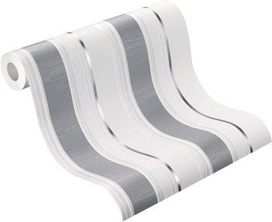 vliestapete leaves gestreift matt ral g tezeichen. Black Bedroom Furniture Sets. Home Design Ideas