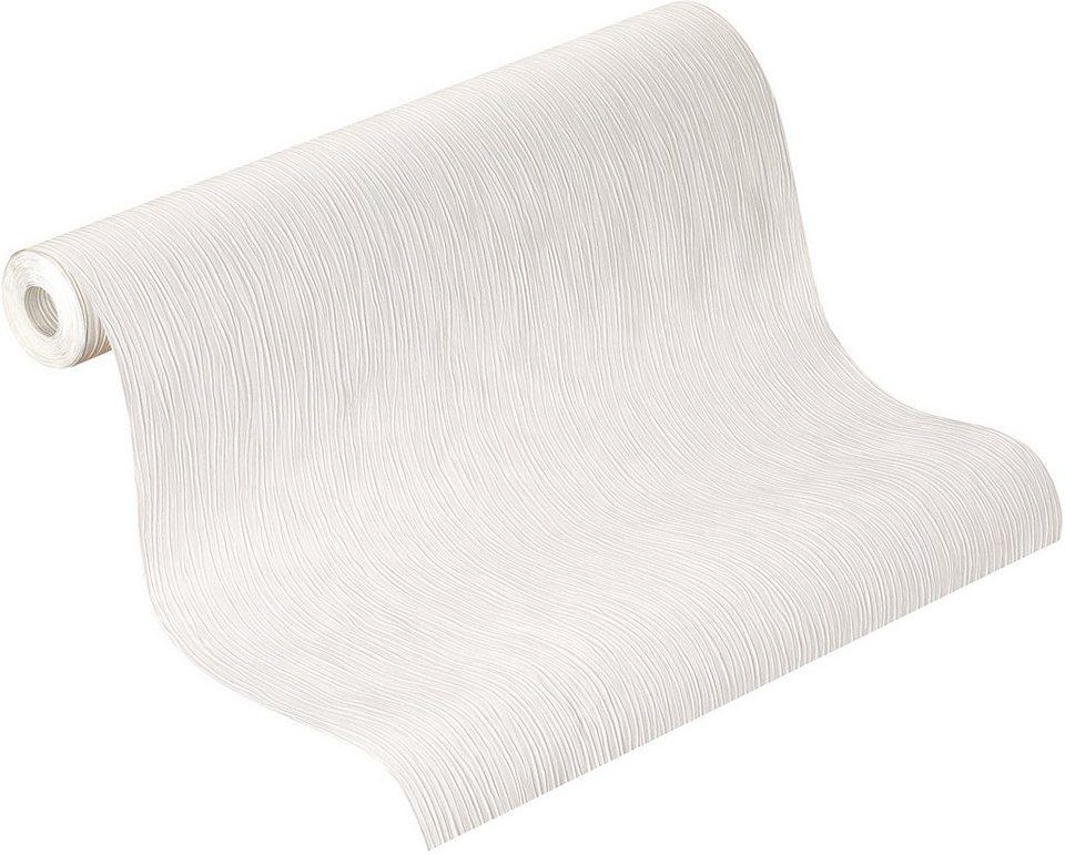 Papiertapete, Rasch, »delight« in weiß