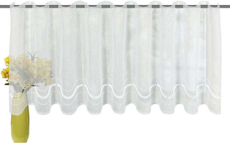 Cafehaus, Home Wohnideen, »Cantal«, mit Durchzuglöchern (1 Stück) in weiß