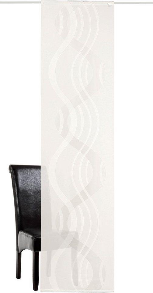 Schiebegardine, Deko Trends, »Karsta«, mit Klettband (1 Stück ohne Zubehör) in weiss