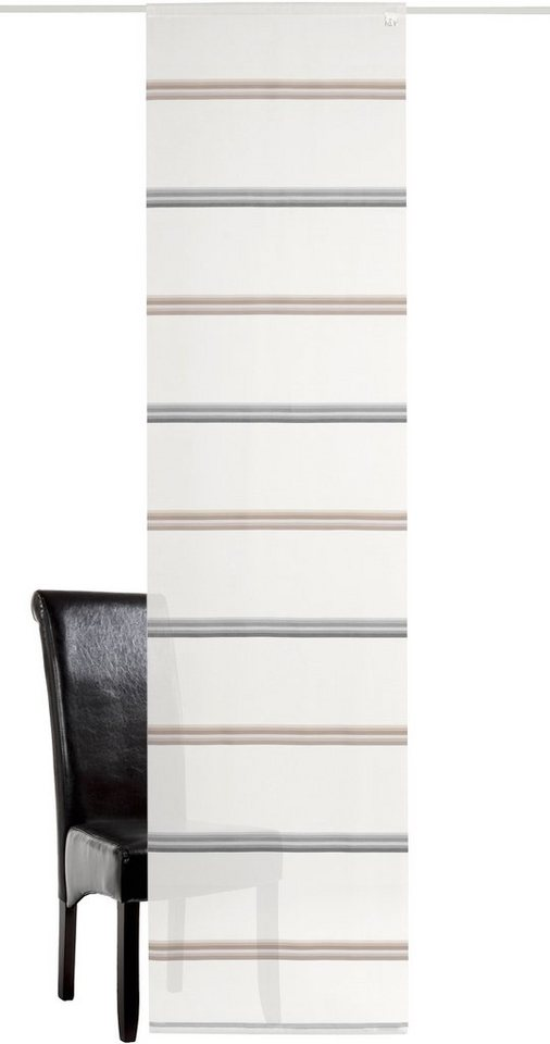 Schiebegardine, Deko trends, »Hancock-B«, mit Klettband (1 Stück ohne Zubehör) in weiss-grau