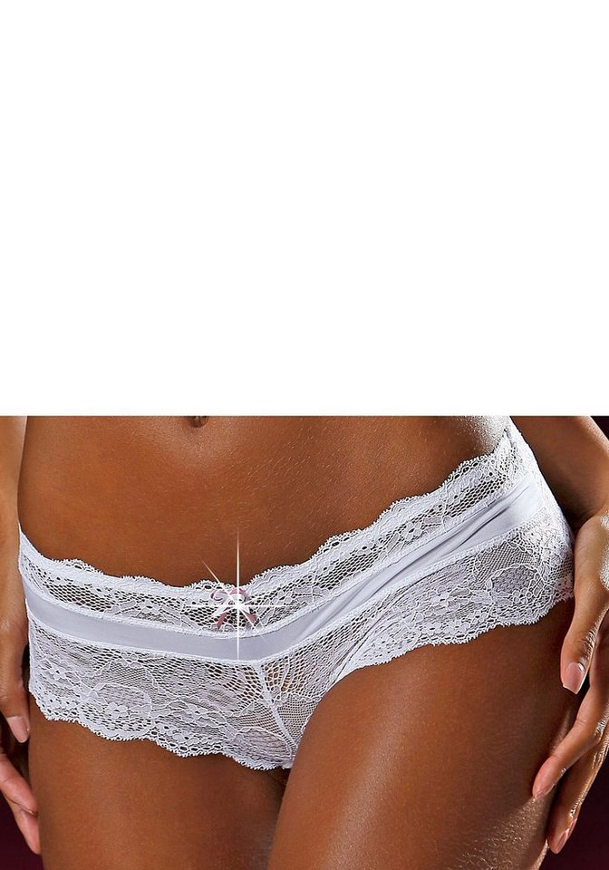 LASCANA Panty aus Spitze in weiß