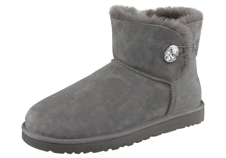UGG »Mini Bailey Button Bling« Stiefelette in grau