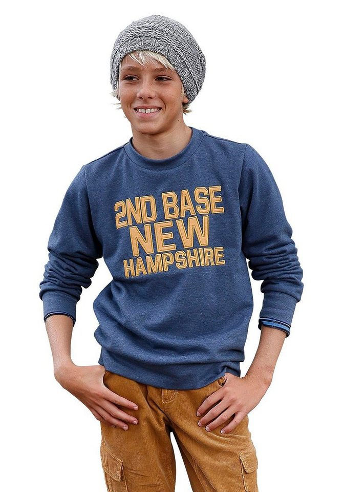 Arizona Sweatshirt in blau-meliert