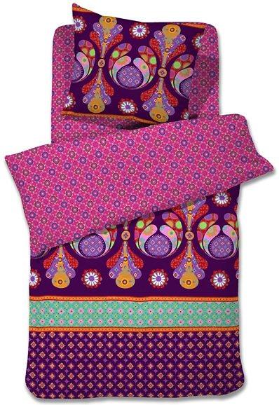 Wendebettwäsche, Damai, »Gemma Bianca«, kräftige Farben in lila