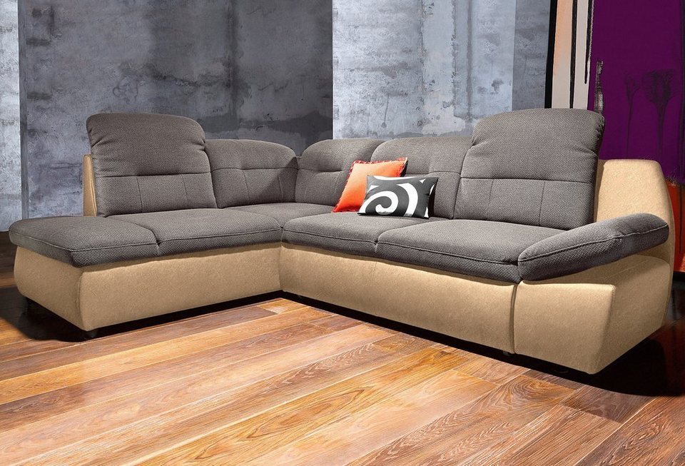 Polsterecke city sofa wahlweise mit bettfunktion otto for Sofa mit bettfunktion