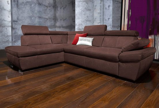 exxpo - sofa fashion Ecksofa, wahlweise mit Bettfunktion
