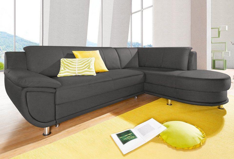 ecksofa wahlweise mit bettfunktion inklusive komfortablem federkern online kaufen otto. Black Bedroom Furniture Sets. Home Design Ideas