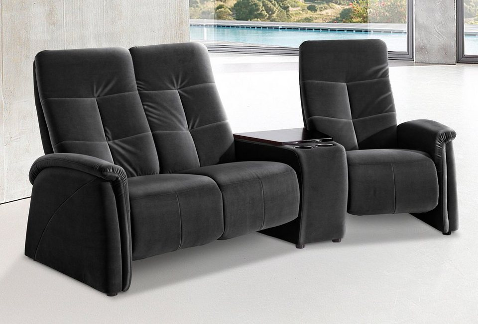 ledersofa schwarz 3 sitzer. Black Bedroom Furniture Sets. Home Design Ideas