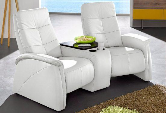 exxpo - sofa fashion 2-Sitzer, mit Relaxfunktion, integrierter Tischablage und Stauraumfach