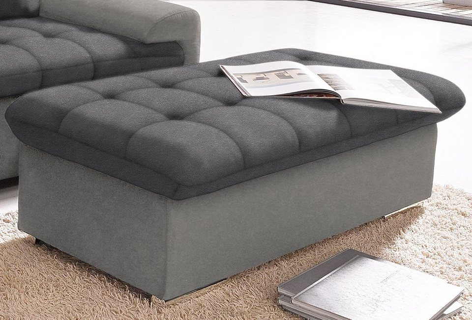 Hocker in grau/anthrazit