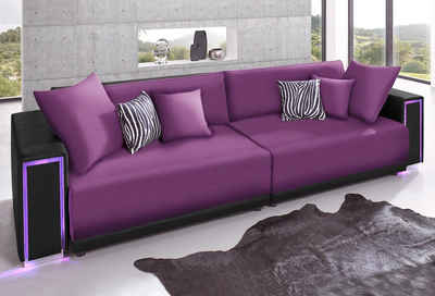 big sofa lila bestseller shop f r m bel und einrichtungen. Black Bedroom Furniture Sets. Home Design Ideas