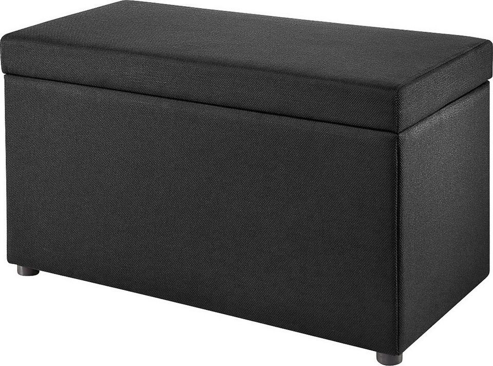Sitzbank, Atlantic Home Collection in schwarz