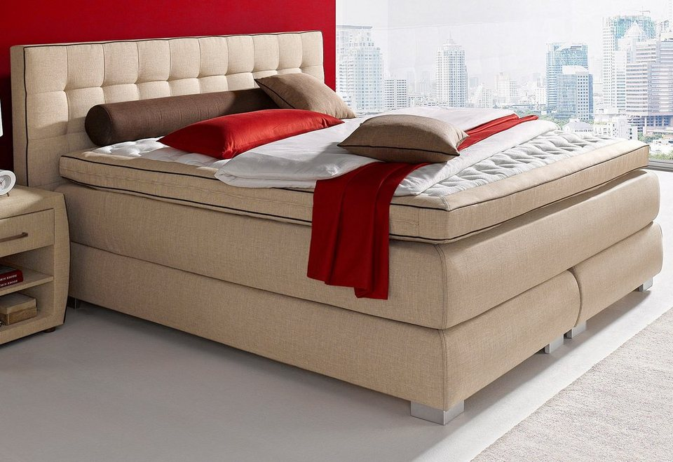 Boxspringbett, Atlantic Home Collection in braun