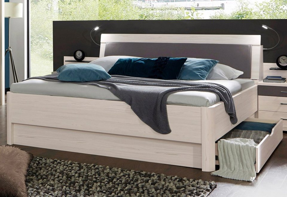 wiemann bett lissabon in 2 breiten wahlweise mit. Black Bedroom Furniture Sets. Home Design Ideas