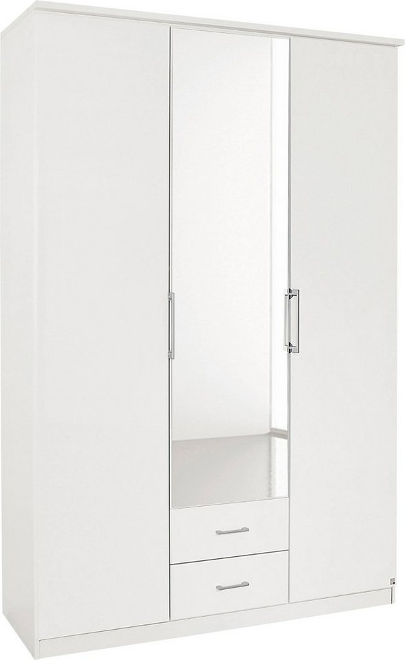 rauch Falttürenschrank in weiß/weiß Hochglanz
