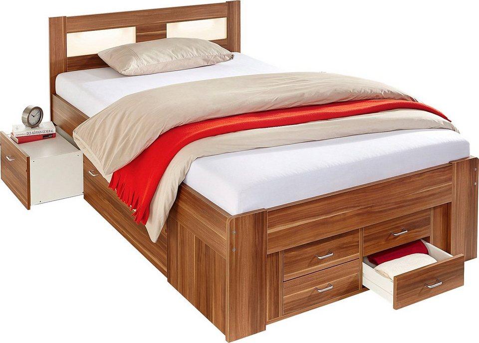 Bett wahlweise mit federkernmatratze kaufen otto for Bett 200x200 mit stauraum